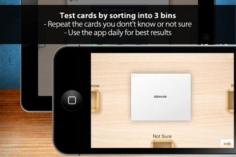 Flashcards A+ pro er genial og gratis. Du kan øve forskellige kategorier du henter fra Quizlet. Du kan også lave dine egne. Du kan øve dit ordforråd. Du kan sætte ordene i don't know, know eller not sure kasserne. Så får du dem igen, du ikke helt kan endnu. Så ordforrådet bliver øget.