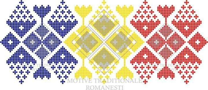 Pattern with 3colors of romanian flags
