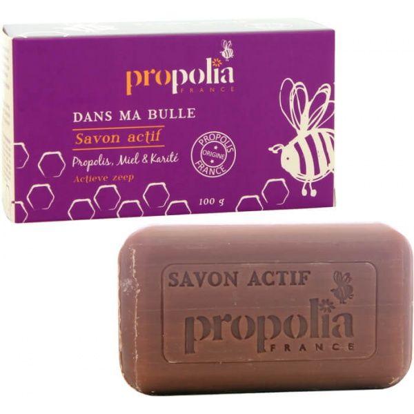 Savon artisanal naturel actif au miel, karité et propolis Propolia