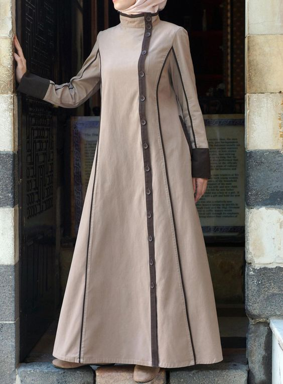 good loking frock style abaya designs (6) | Things to Wear ...