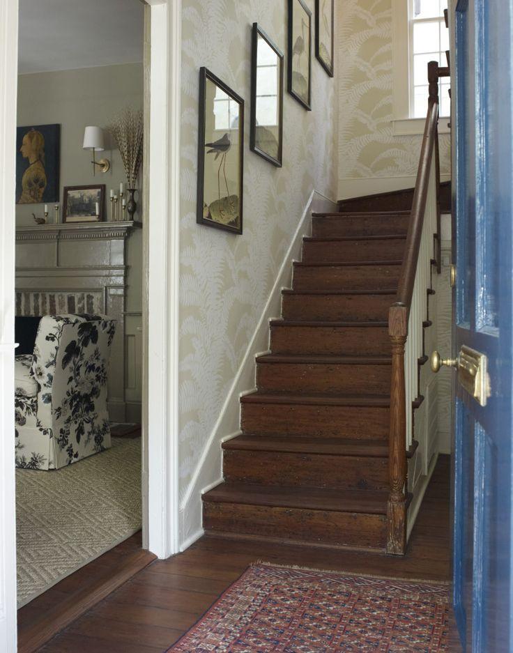 Farmhouse Entry Stairs Meg Braff Quot Fern Quot Wallpaper