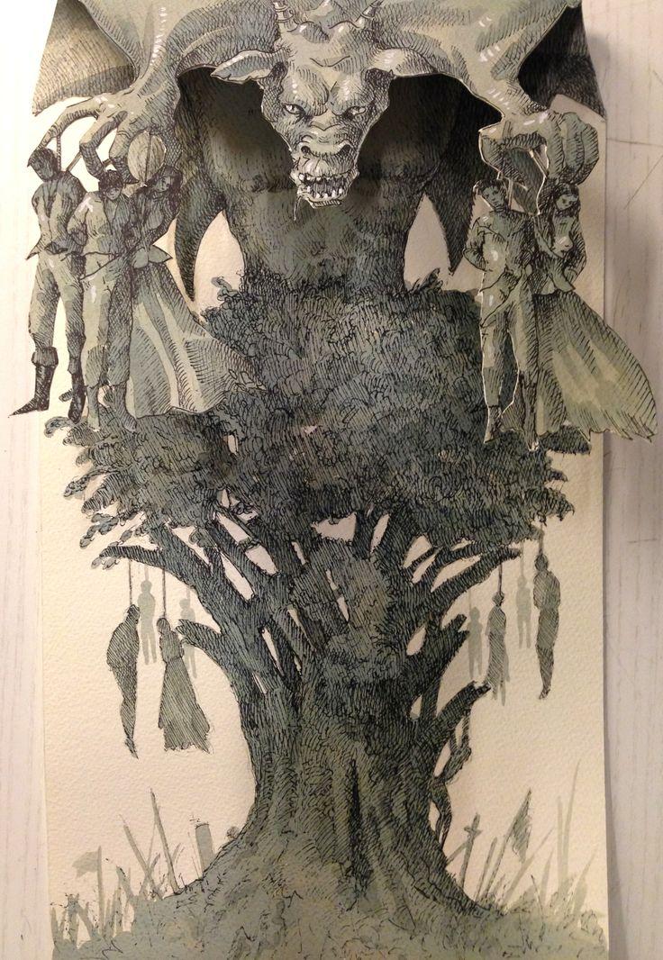 """""""L'albero della cuccagna"""",2014,acquerello e china su carta, cm 33x22"""