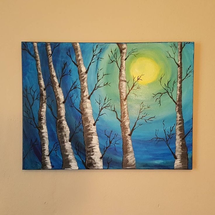 Thanks! @theartsherpa These were so fun and relaxing. #art #newartist #iloveart #walldecor #wallart #canvasart #painting #acrylicpainting #acrylic #winsorandnewton #nofilter #birchtrees #100DaysOfArt #the100dayproject