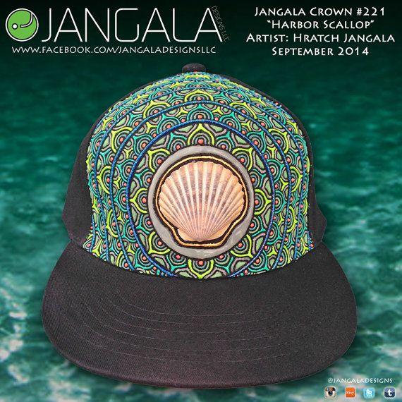 Scallop Shell Custom Hat by Jangala by jangaladesigns on Etsy