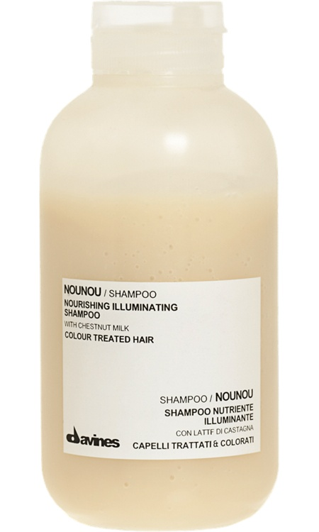 Davines Nounou Shampoo    the greatest smell and leaves my hair SUPER silky soft.