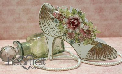 All Glammed Up Shaped Shoe Card