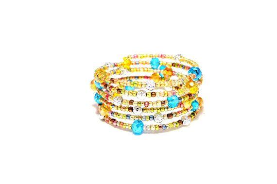 Pastel  Swarovski Crystal and  Czech Glass  Bracelet by LEMemories