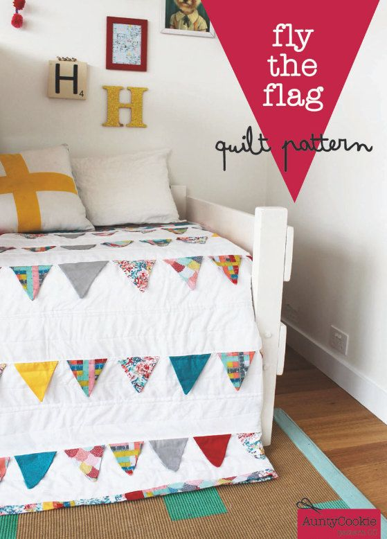 Fly the Flag Quilt PDF PATTERN by AuntyCookie on Etsy