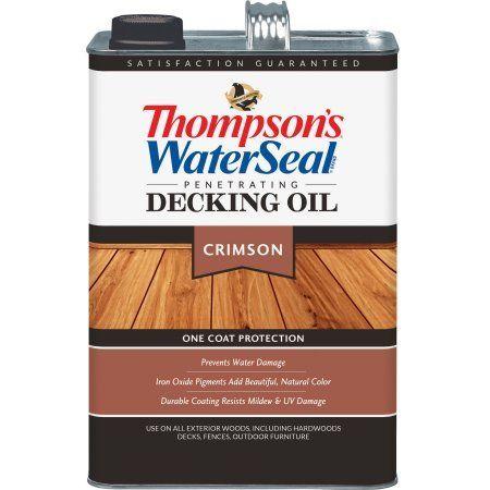 Thompson's WaterSeal Penetrating Decking Oil, Hazelnut, 1 gal, Green