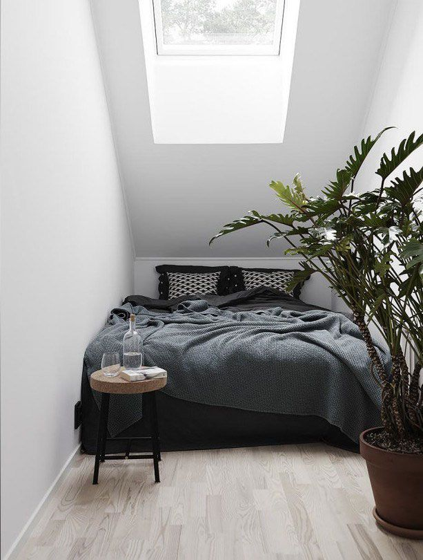 Charming A Serene Nordic Apartment With Earthy Tones And Natural Materials. Black Bedroom  DesignSmall ...