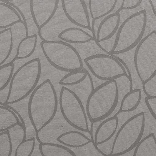 Jacquard grey w leaves