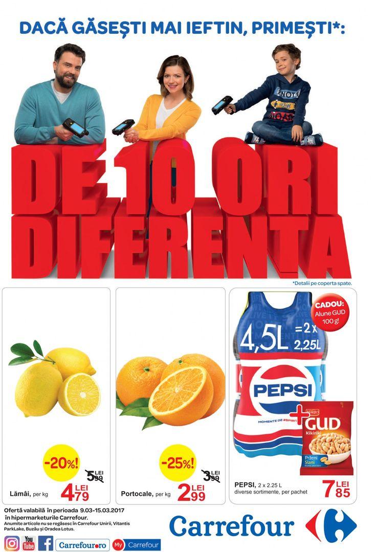 Catalog Carrefour Alimentare si Nealimentare 09-15 Martie 2017! Oferte: pulpe de pui dezosate 14,99 lei; 7,99 lei; protocale rosii 4,99 lei; avocado