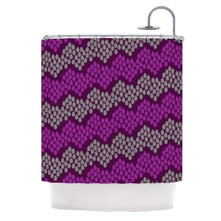 "Kess InHouse Deepti Munshaw ""Pattern #2"" Chevron Purple Shower Curtain"
