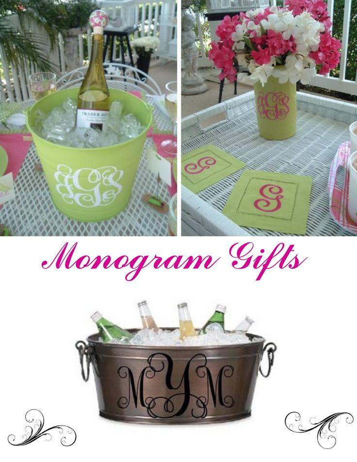 IdeasMonograms Galore, Gift Ideas, Diy Gift, Monogram Gifts, Silhouettes Cameo, Monograms Gift, Bridal Shower, Handmade Gift, Crafts