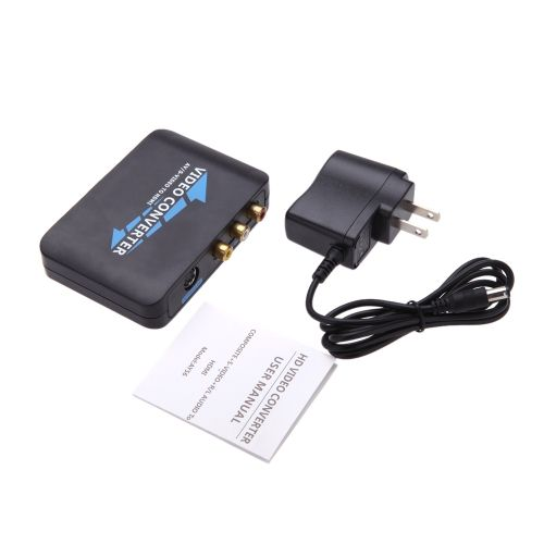 New Portable 1080P / 720P CVBS + S-Video + R / L Audio to HDMI Converter for HDTV STB DVD Projector