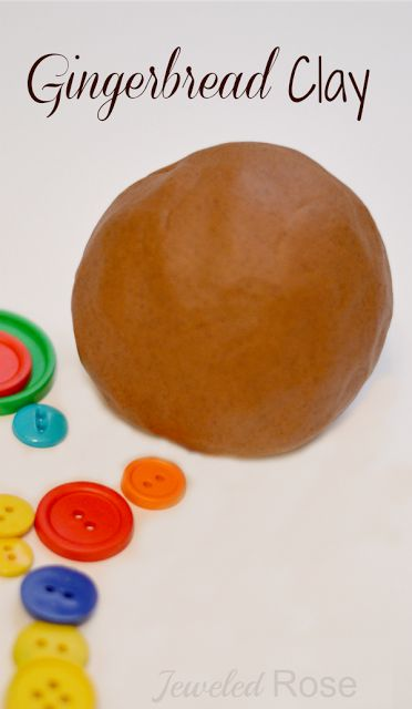Make scented gingerbread ornaments with this simple gingerbread clay recipe.  This clay is great for playtime, too.  Store leftovers on a zip deal bag and kids can bake gingerbread men over and over again!