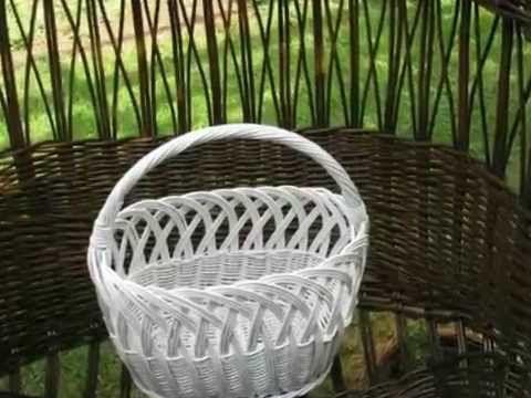 Pleteni proizvodi od pruca - Willow furniture & baskets - YouTube
