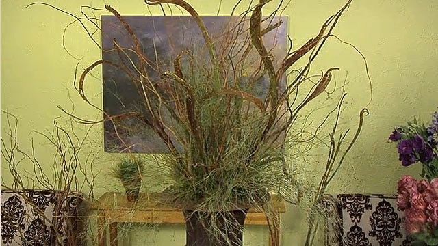 How to make a dramatic arrangement with branches ...
