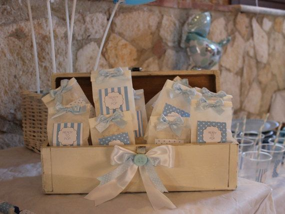 Sacchetti di carta con etichette per Baby di LeNuvolediPipo
