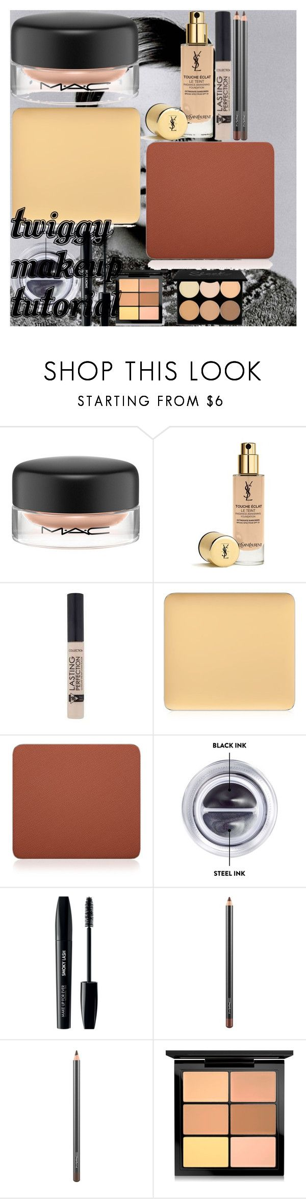 """""""Twiggy Makeup Tutorial"""" by oroartye-1 on Polyvore featuring beauty, MAC Cosmetics, Yves Saint Laurent, Inglot, Bobbi Brown Cosmetics and MAKE UP FOR EVER"""