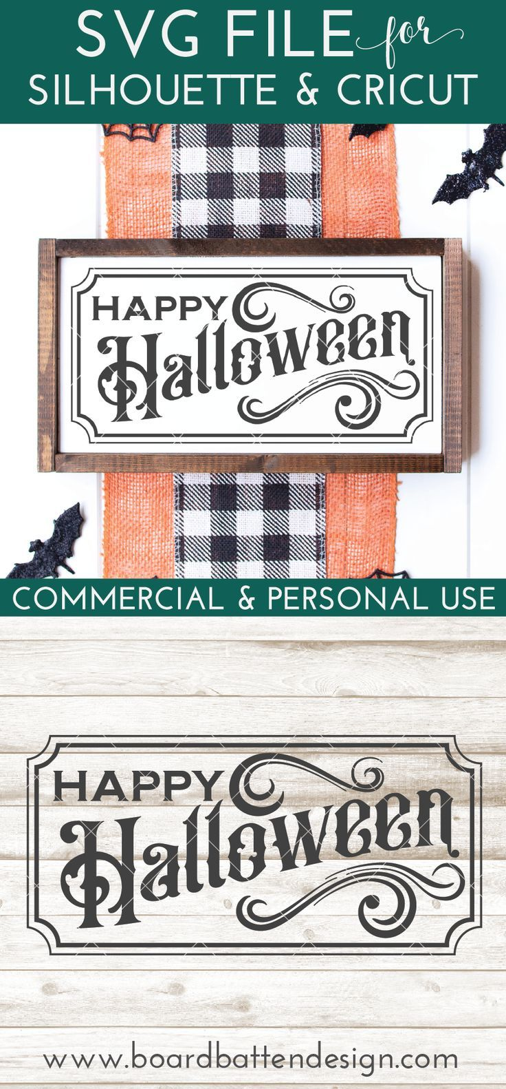 Vintage Happy Halloween SVG File 12x24 Size in 2020