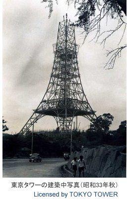 @retoro_mode 建設中の東京タワー。