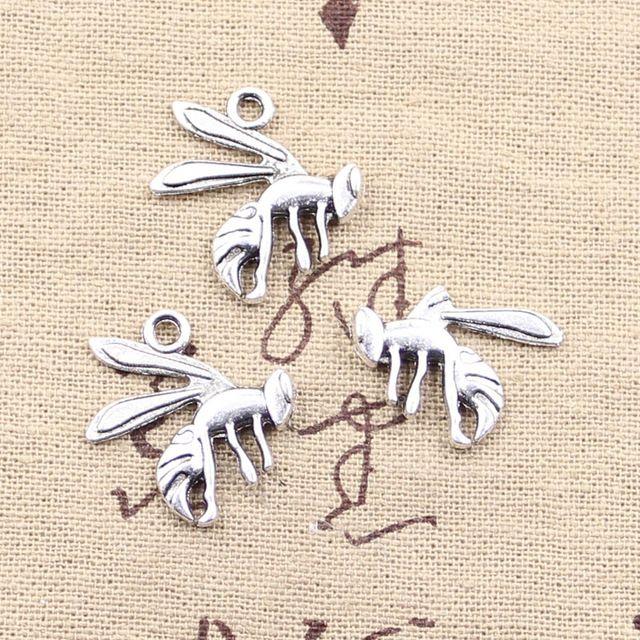 99 центов 6 шт. подвески оса шершень 23 * 18 мм античная делать fit, Старинные тибетского серебра, Diy браслет ожерелье