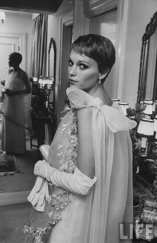 Mia Farrow in 1960s Pierre Cardin