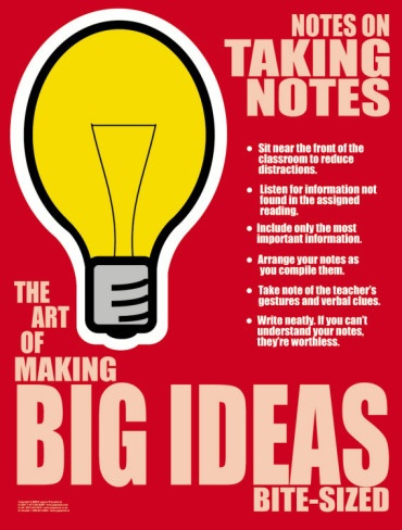 Big Ideas Posters at AllPosters.com ** I liked this poster cute way to keep them thinking. Can easily be made, maybe even on a small copy for their notebooks.
