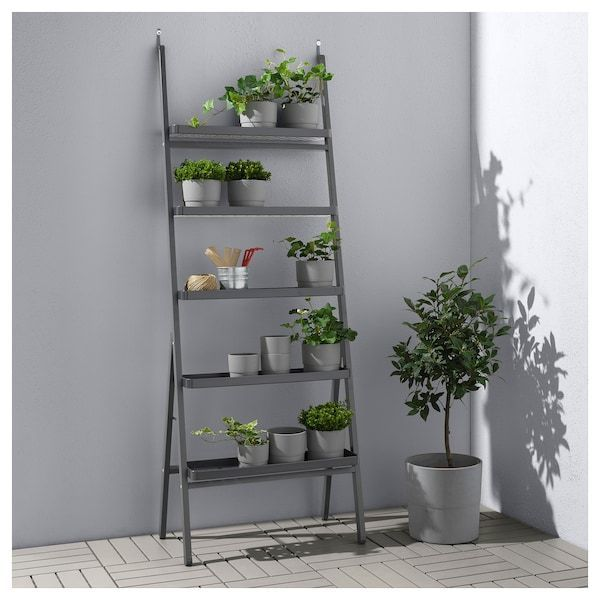Salladskal Plant Stand Outdoor Grey Ikea In 2020 Plant Stands Outdoor Plant Stand Garden Plant Stand