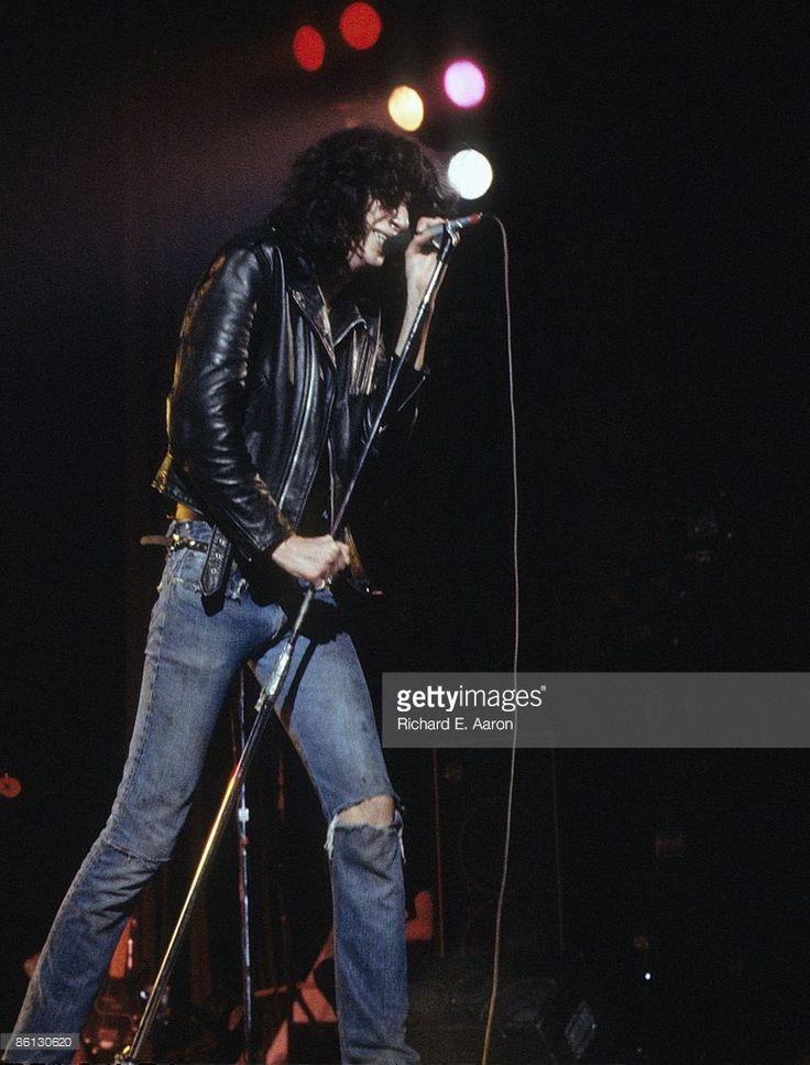 Photo of Joey RAMONE and RAMONES; Joey Ramone