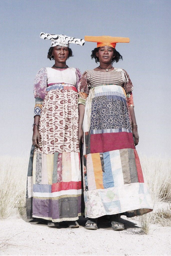 Namibia, Herero Women in Patchwork Dresses ©Jim Naughten