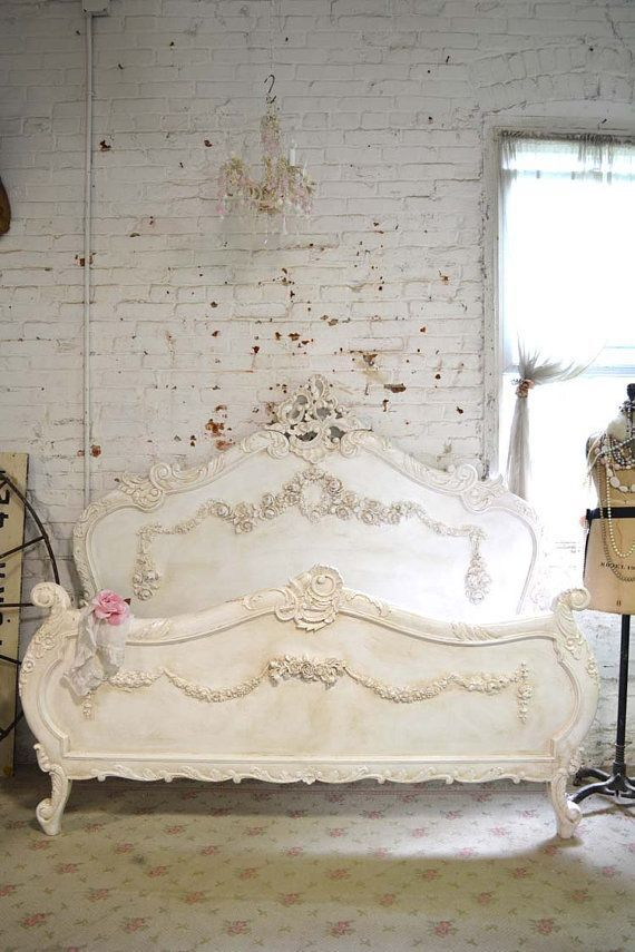 Painted Cottage Shabby Chic French Romantic Bed by paintedcottages