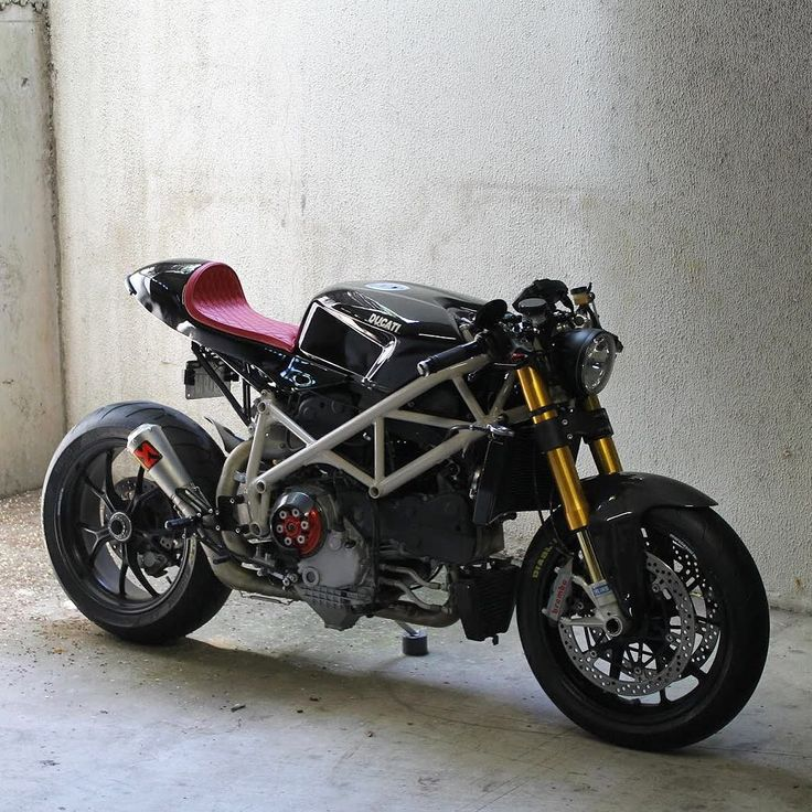 A Ducati 1098 that turned into a modern cafe racer.  ""