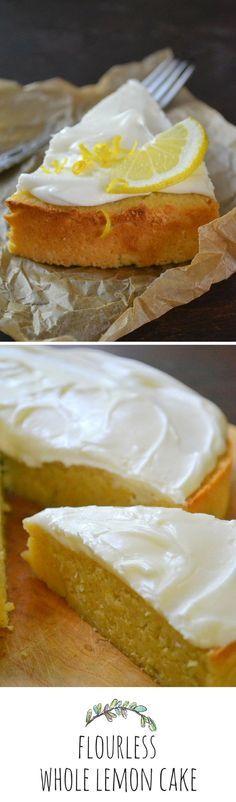 Flourless Whole Lemon Cake