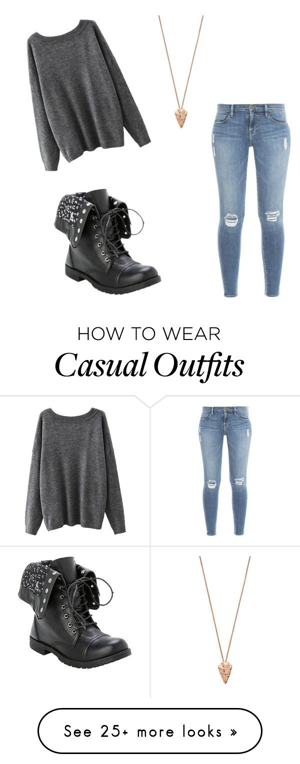"""""""#1"""" by angstyteenalien on Polyvore featuring Frame Denim and Pamela Love                                                                                                                                                                                 More"""