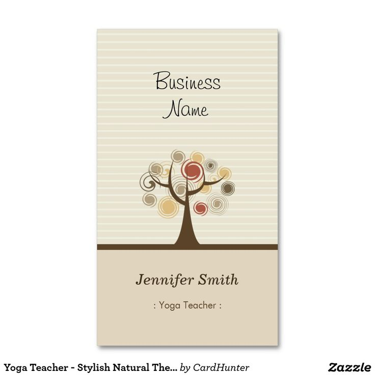 175 best yoga business cards images on pinterest business cards yoga teacher stylish natural theme double sided standard business cards pack of 100 stopboris Image collections
