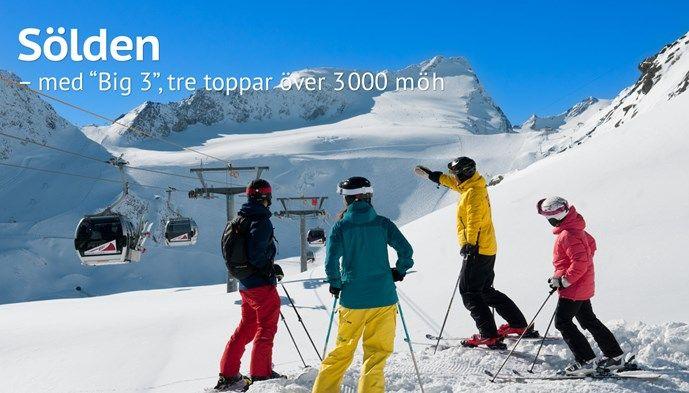 Sölden Big 3 skidåkning Alperna skiing Snow winter STS Alpresor puder skidresa