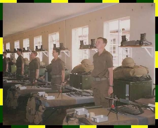 National Service in the then South African Defence Force - OC's inspection.