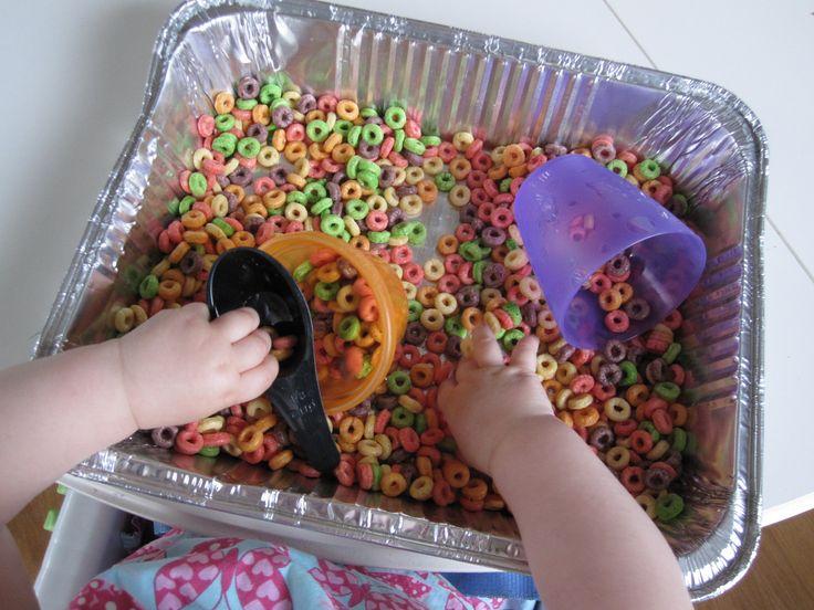 Non-messy sensory activities: Fruity Sensory Tub
