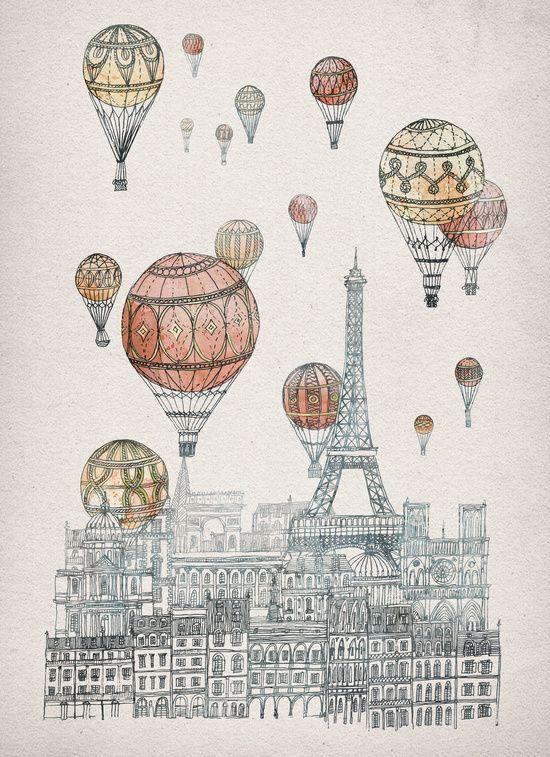 Voyages Over Paris (David Fleck)