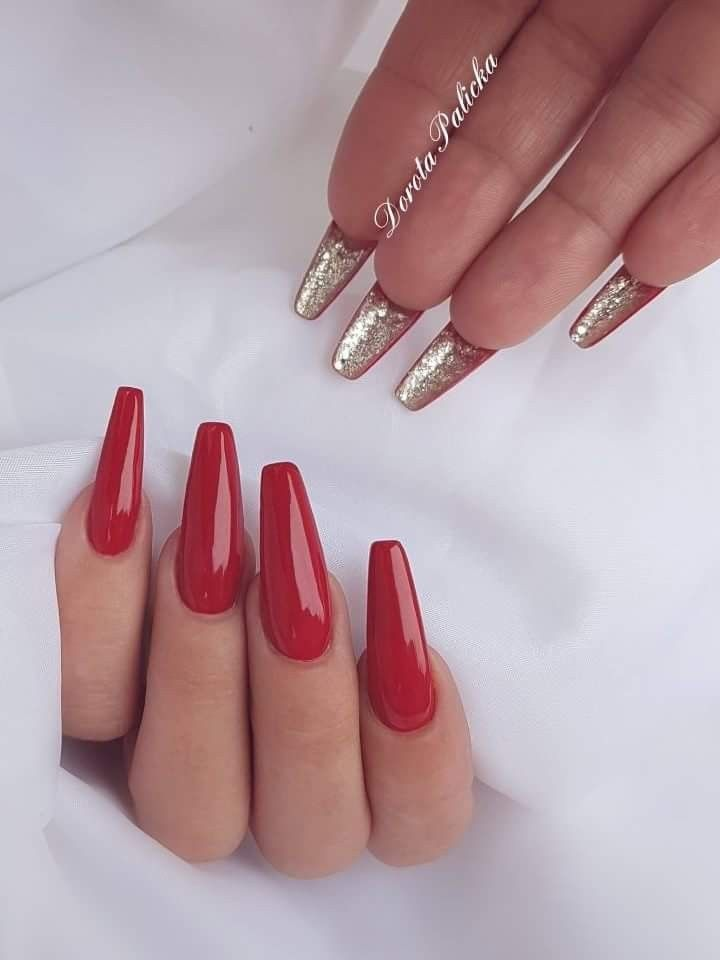 Red nail painted underneath in 2019