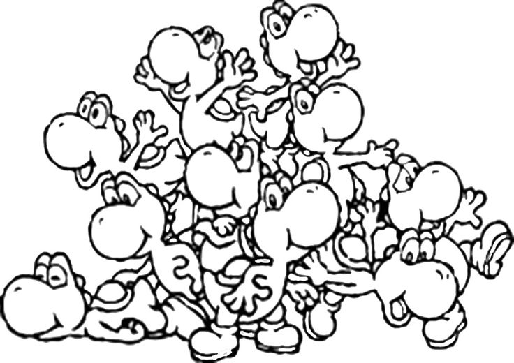 49 best super mario yoshi coloring pages images on