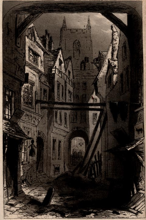 """Phiz's """"Tom-All-Alone's"""" from Bleak House by Charles Dickens"""