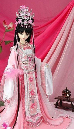 Pink Chinese doll China Doll