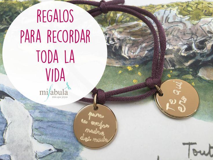 Joyas especiales que son más que regalos. #mifabula #joyaspersonalizadas #regalosúnicos   http://mifabula.com/Pulseras-personalizadas-para-mujeres-con-cordon-goma