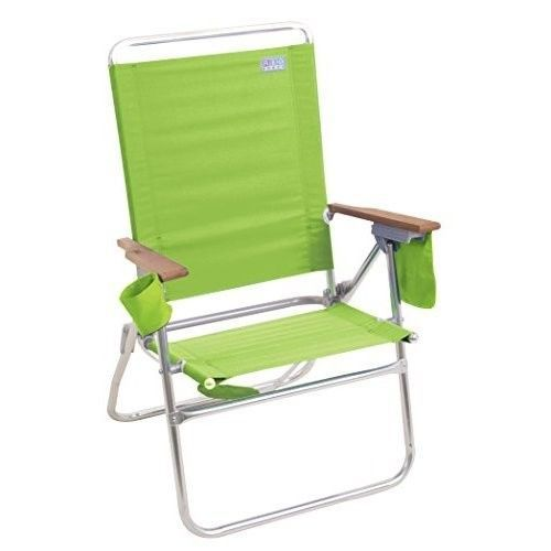 Beach Chair - Camping Chair Rio Beach Hi-Boy- Lime Green New Free Shipping #RioBrands