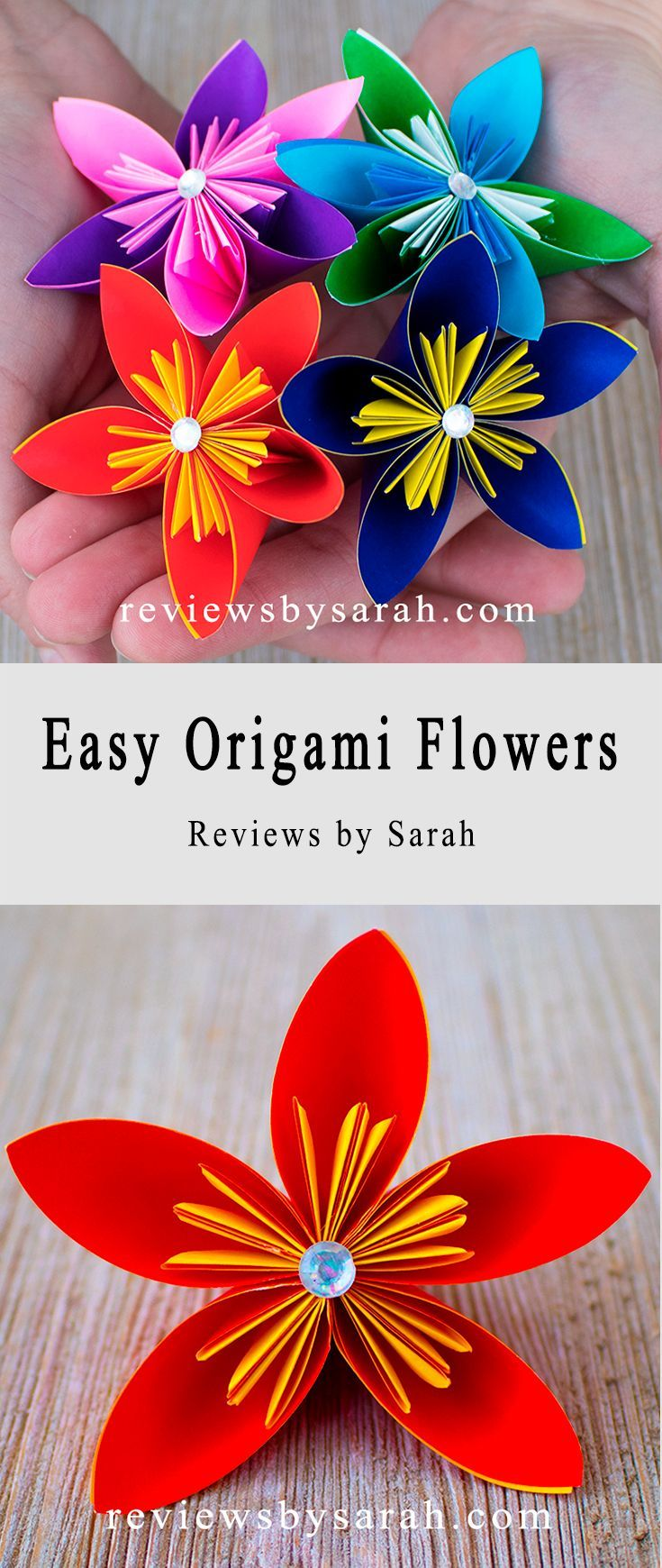 How to make lavender paper flower   Easy origami flowers for ...   1740x735