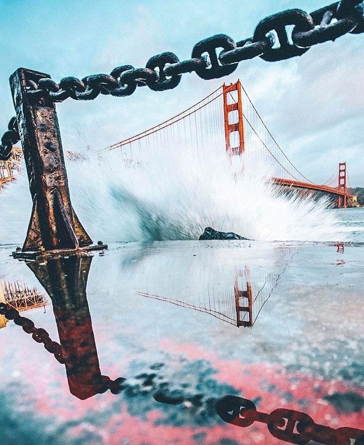 Violent waves  / by @jonnybgreat - San Francisco Feelings