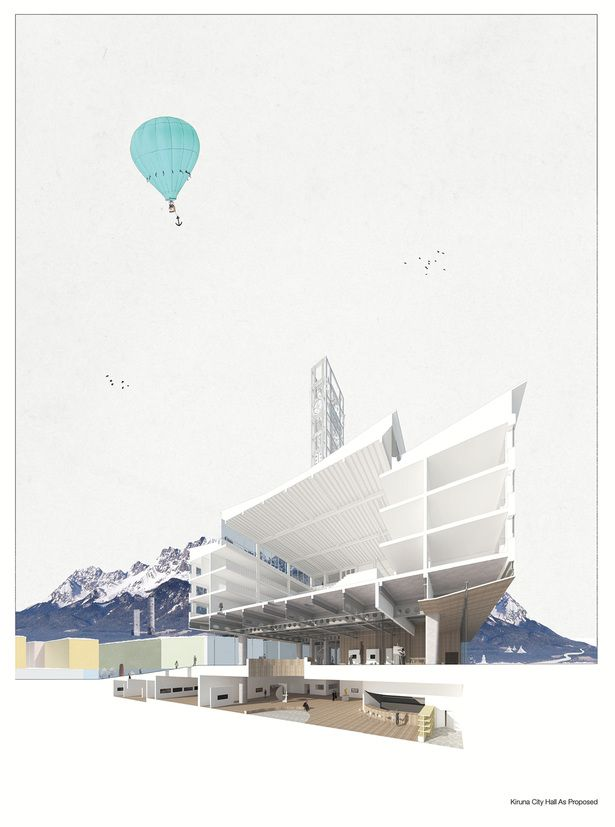 Kiruna City Hall repositioning | Michal Scieszka & Dale Smith | Archinect